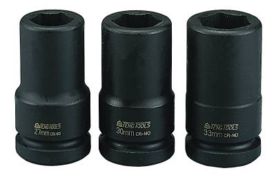 Impact socket. With 3/4' square drive. Teng Tools 940619-C / 940646-C