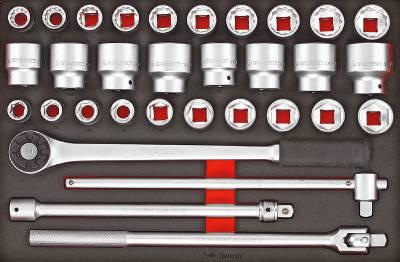 32 delars Hylsnyckelsats med 3/4' fyrkantsfäste Teng Tools TTESK32