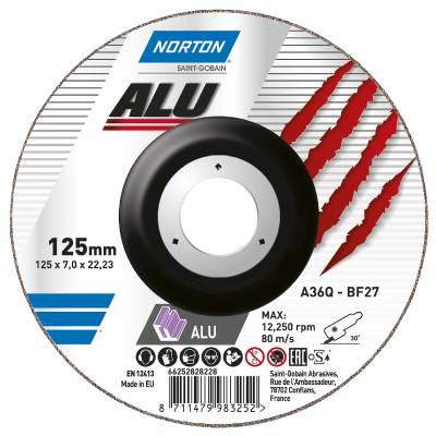 Depressed centre wheel for aluminium Norton Norline Alu