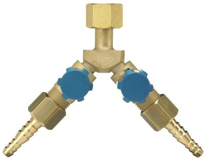 Gas outlet valve Elga/Gasiq for two gas outlets