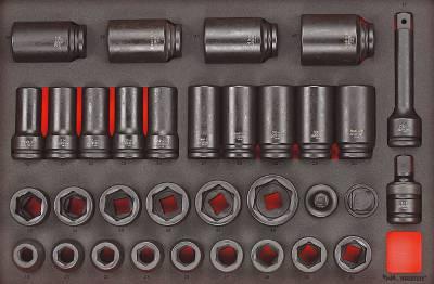 33 delars Krafthylssats med 3/4' fyrkantsfäste Teng Tools TTEISK33