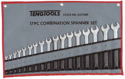 Combination spanner set Teng Tools 6517MM