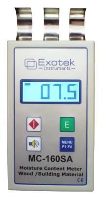 Moisture meter for wood, building material (non destructive) Exotek MC-380XCA / MC-160SA