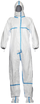 Disposable coverall Tyvek Classic Plus, with integrated socks