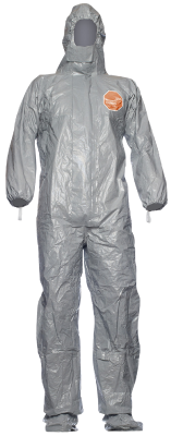 Disposable coverall Tychem F, with integrated socks