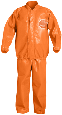 Disposable set, bib trousers and jacket, Tychem Thermopro