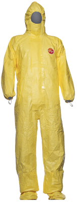 Disposable coverall Tychem C, with integrated socks