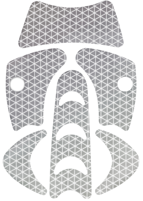 Refleks Kask Plasma WAC0001 Sølv