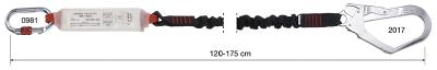 Liitosköysi nykäyksenvaimentimella CAMP Rewind 7030101 Single