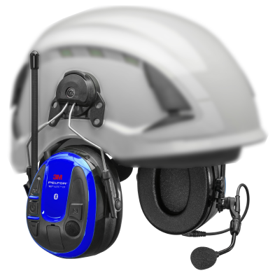 Wireless Phone Headset Peltor WS Alert XPI with mobile application – hard-hat mounted