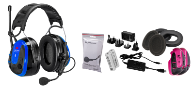 Wireless Phone Headset Peltor WS Alert XPI with mobile application – headband, incl. batteries and charger