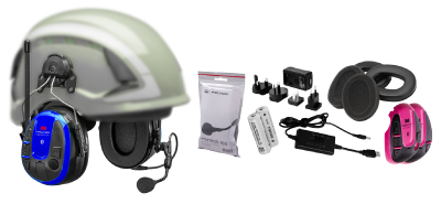 Wireless Phone Headset Peltor WS Alert XPI with mobile application – hard-hat mounted, incl. batteries and charger