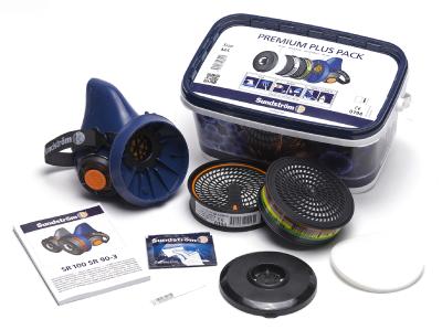 Puolinaamari Sundström SR 100 M/L Premium Plus Pack