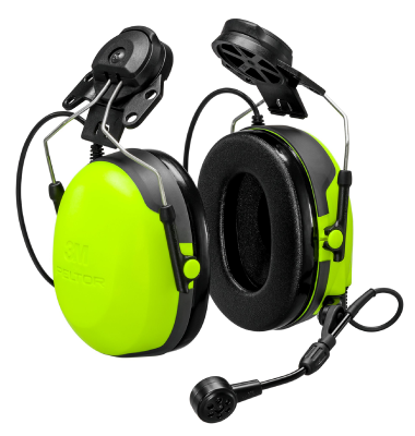 Headset Peltor CH-3 FLX2 with hard hat attachment