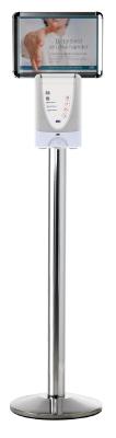 Golvstativ med toppskylt för 1 L TouchFREE dispenser