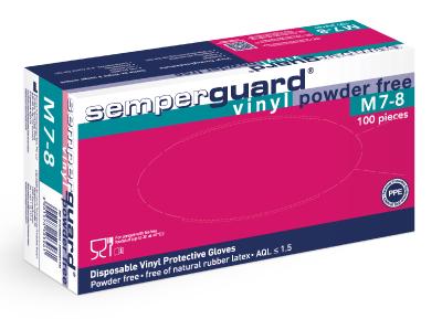 Kertakäyttökäsine Semperit Semperguard Vinyl puuteroimaton
