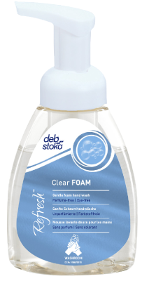 Skumtvål Deb Refresh Clear FOAM