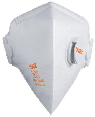Filtrerande halvmask vikbar med ventil Uvex 3210 FFP2