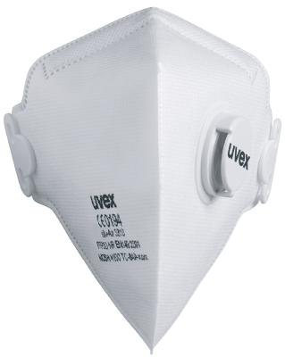Filtrerande halvmask vikbar med ventil Uvex 3310 FFP3