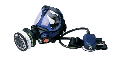 Compressed Air-fed full mask Sundström SR 200 Airline with filter back-up