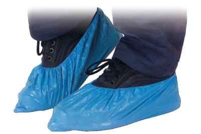 Kertakäyttöiset kengänsuojat PE sininen