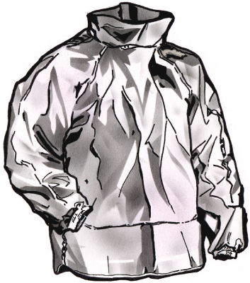 Aluminisoitu takki TST
